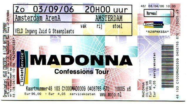 Madonna Ticket 03-09-2006