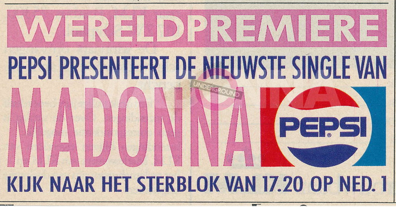 Dutch Pepsi magazine ad