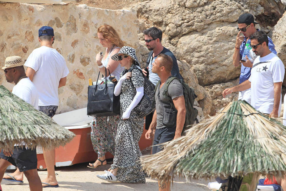 Madonna & Lourdes Vacation In Ibiza