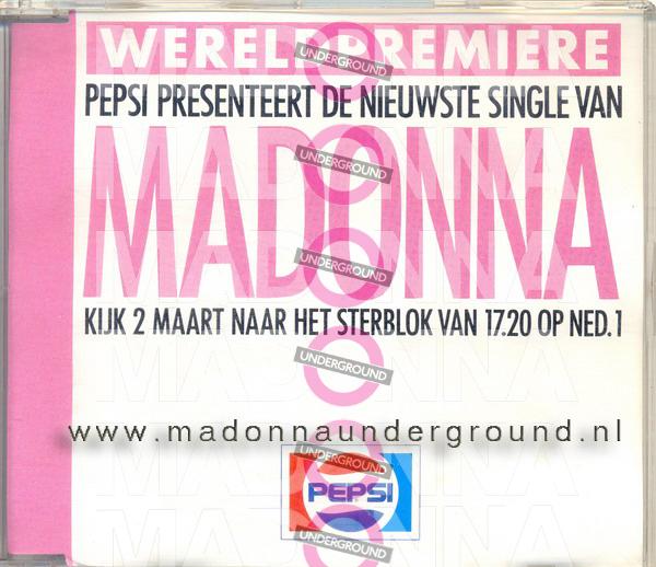 Pepsi Promo CD front