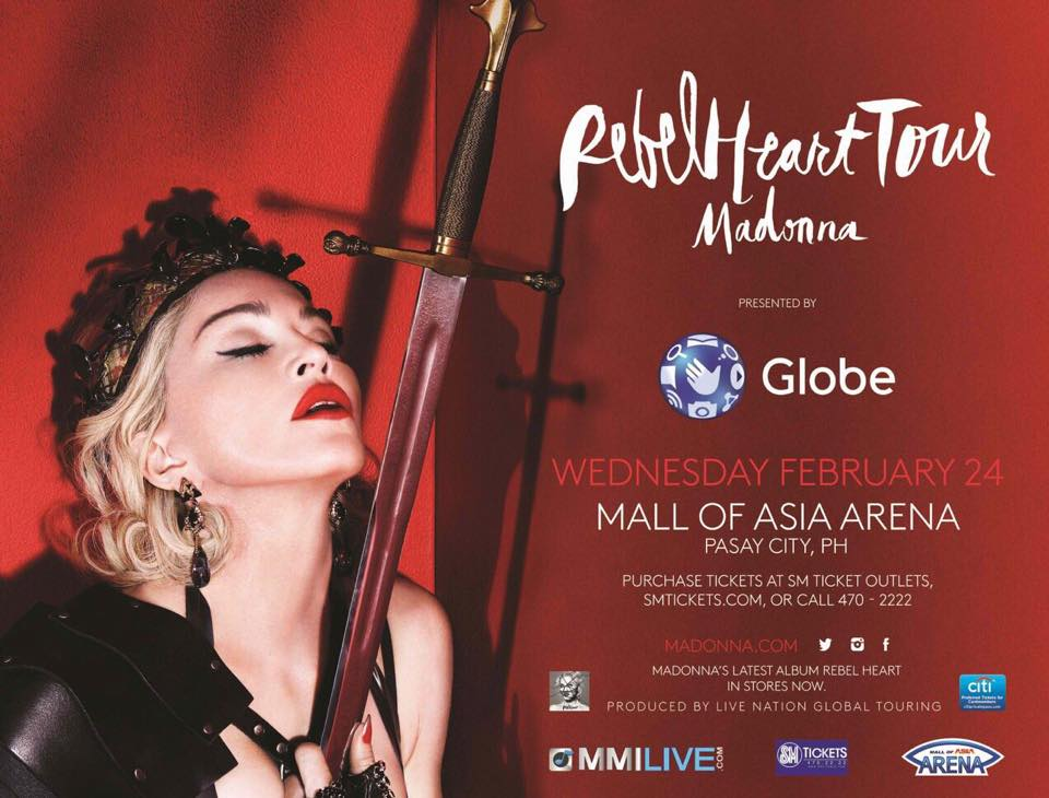 Rebel Heart Tour Manilla