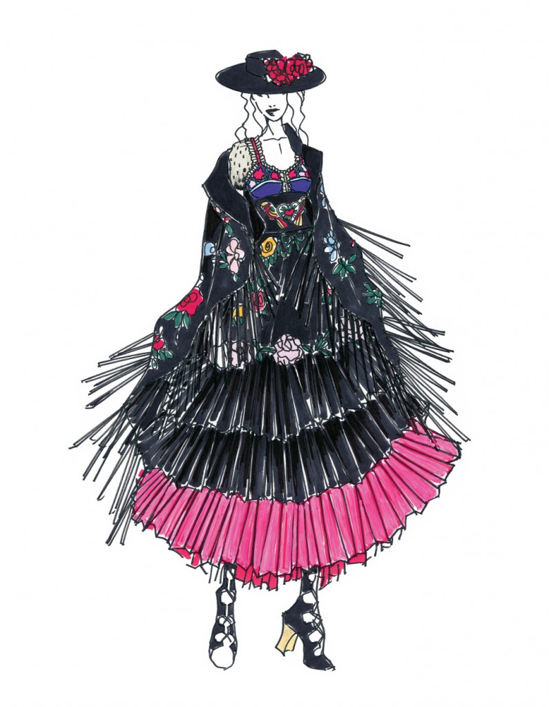 madonna-tour-designers03A sketch from Gucci
