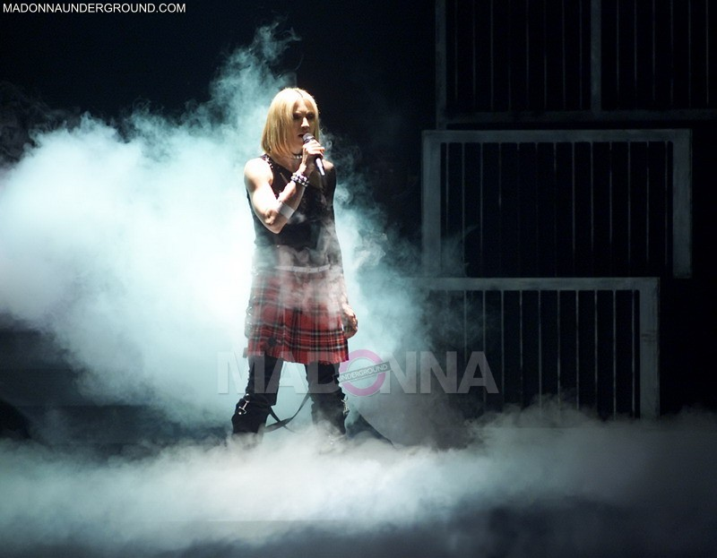 Madonna performing during the first show of her 'Drowned World Tour' at the Palau Sant Jordi in Barcelona, Spain, 6/9/01. Photo by Frank Micelotta/ImageDirect.