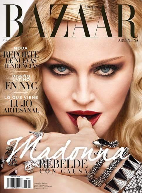 Madonna covers harper 39 s bazaar argentina madonnaunderground for Bazaar argentina