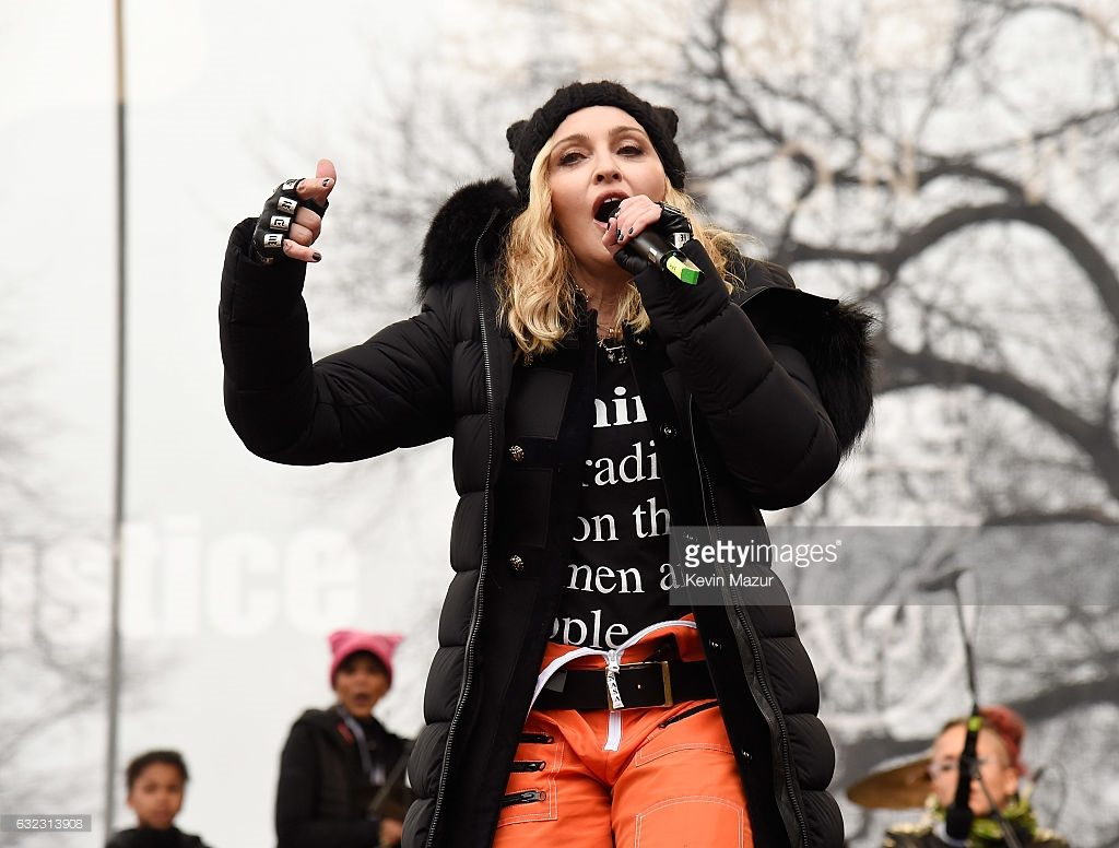 attends the rally at the Women's March on Washington on January 21, 2017 in Washington, DC.